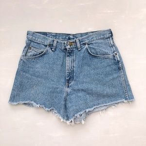 Wrangler Women's Cut Off Jean Shorts High Rise 32